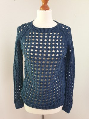 Blau /  Jeansblaue Pullover in Stick von s.oliver