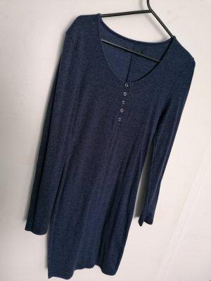 Blau, Kleid, Stretch, Jersey, Winterkleid, Übergang,