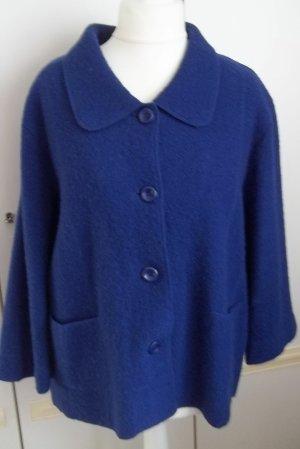Blau Kühle Abende Jacke mit Taschen 100 % Wolle v.Fabiani GR 46