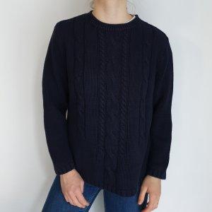 blau L Canda Cardigan Strickjacke Oversize Pullover Hoodie Pulli Sweater hemd bluse jacke Top True Vintage