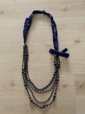 Blau-lila Halskette von Promod
