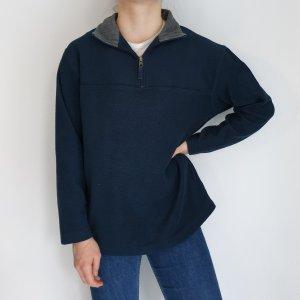 blau M Cardigan Strickjacke Oversize Pullover Hoodie Pulli Sweater Top True Vintage
