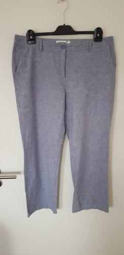 Creation L. Pantalon en lin gris ardoise lin