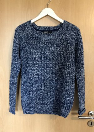 Colours of the World Knitted Sweater dark blue-white