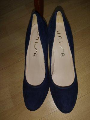 Blau Nubukleder Schuhe von Unisa neu und ungetragen