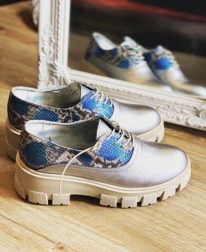 Biamo Handmade Chaussure Oxford bleuet-argenté