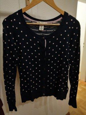 H&M Blouse Jacket pink-dark blue cotton