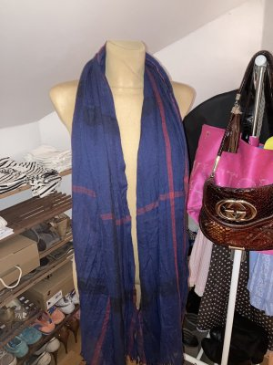 Blau Roter Schal, weich