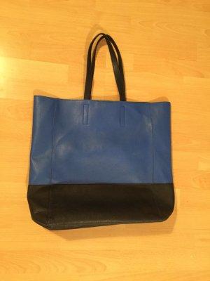 Blau schwarze große Tasche