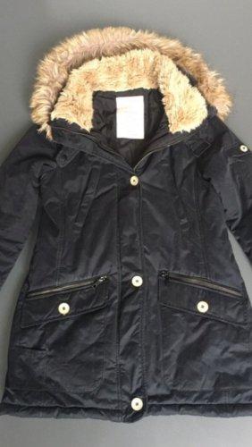 Blau/ schwarze Winterjacke von Zara