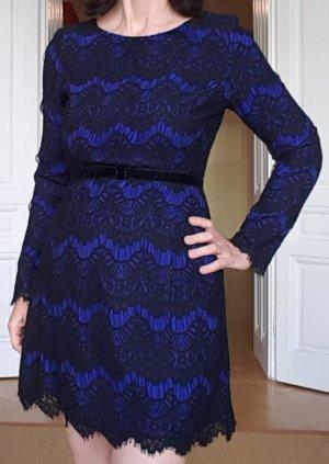 Blau-schwarzes Cocktailkleid von French Connection, Größe 36
