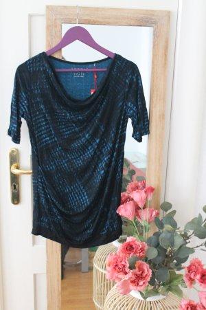 Esprit Camisa cruzada azul-negro