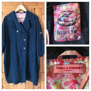 Frieda & Freddies New York Oversized Coat pink-blue