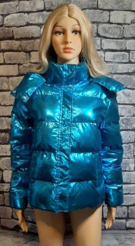 Blau türkise Daunenjacke in Größe 36 von Top Secret
