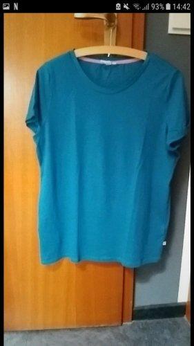 Blau/Türkises lockeres T-Shirt