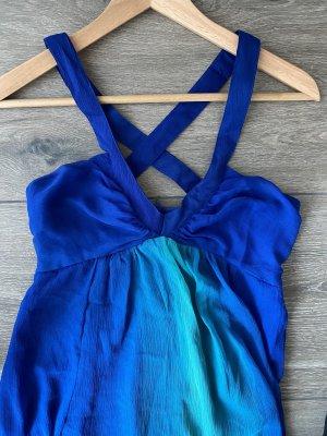 Blau/turquoise langes Sommerkleid