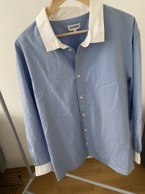 Blau weises Hemd von Weekday