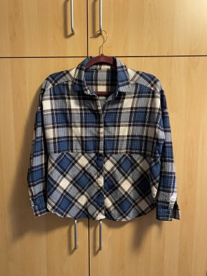 Blossom Flannel Shirt white-blue