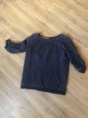 Blau weiß gepunkteter Pullover xs