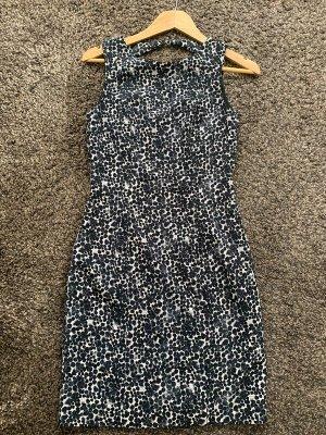 Blau weiß gepunktetes Kleid von H&M in 36 Bleistiftkleid