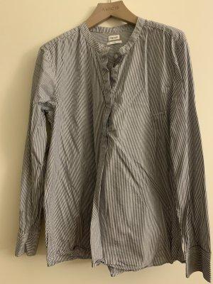 Filippa K Blouse Shirt white-dark blue