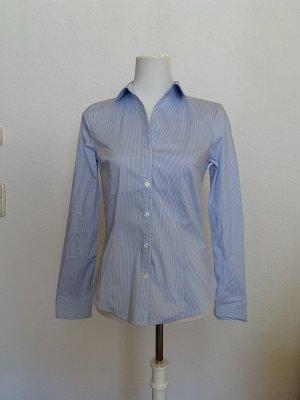 blau/weiß gestreifte Bluse