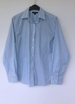 blau-weiß gestreifte Bluse - klassisch - Größe 40