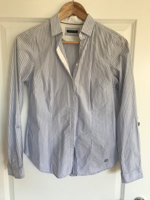 Blau weiß gestreifte Bluse von Massimo Dutti