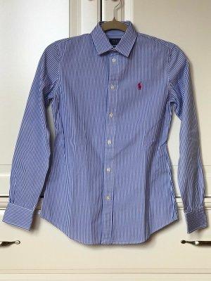 Blau-weiß gestreifte Bluse von Ralph Lauren