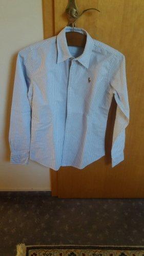 Blau-weiss gestreifte Bluse von Ralph Lauren