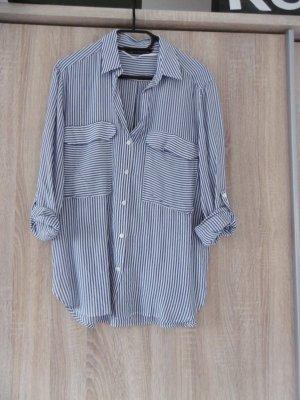 blau-weiß gestreifte Bluse von Zara