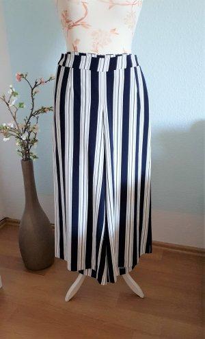 blau-weiß gestreifte Culotte von H&M
