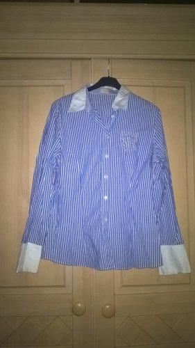 Apriori Camicia blusa bianco-azzurro Cotone