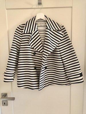 Zara Marynarska kurtka biały-niebieski