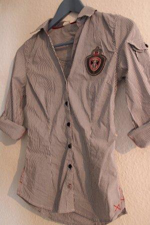 Decathlon Camicetta a maniche lunghe bianco-grigio ardesia Cotone