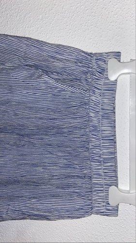 H&M Spódnica ze stretchu biały-błękitny