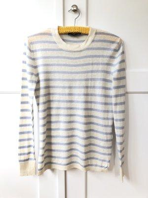 Blau weiß gestreifter Selected Pullover