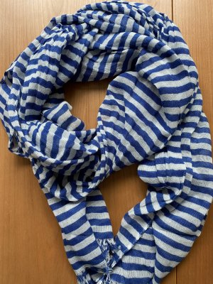 Summer Scarf white-blue