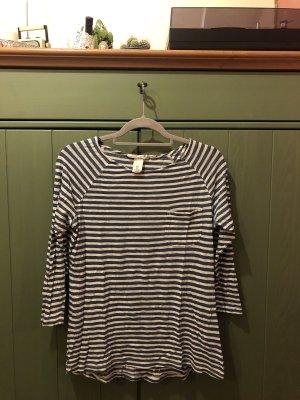 H&M Camicia oversize bianco-blu