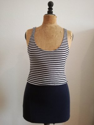 blau weiß gestreiftes Jerseykleid von Vero Moda