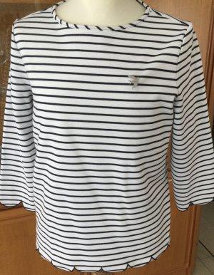 Bonita T-shirt rayé blanc-bleu foncé