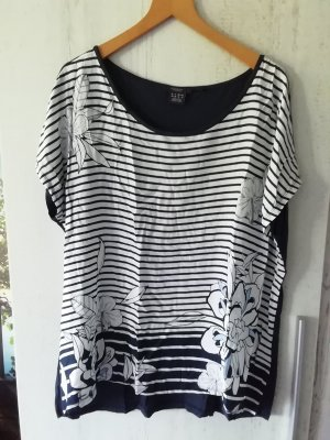 Manguun T-Shirt white-dark blue