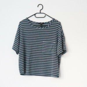 Forever 21 Camicia oversize blu acciaio-bianco
