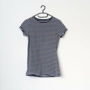 Primark Basic Shirt white-dark blue
