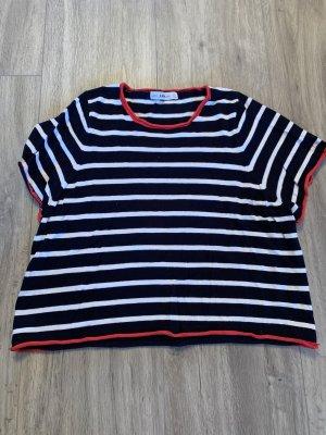 Blau/weiß gestreiftes Zara Shirt