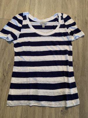 Blau/weiß gestreiftes Zara T-Shirt