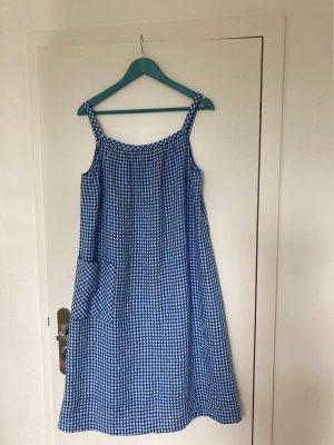 Comptoir des Cotonniers Midi Dress cornflower blue-white linen