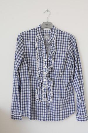 Blau weiß kartierte Bluse