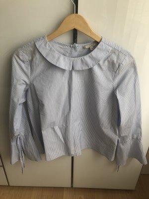 Blau/Weiße Bluse