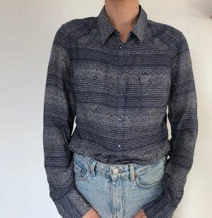 Blau-weiße Bluse von Wrangler